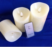 Moving wick led candle