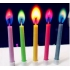 Colorful flame birthday candle