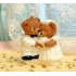 Teddy bear wedding candle
