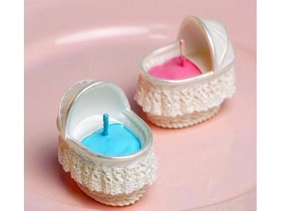 Bassinet wedding candle