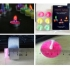 Colorful flame tealight candle