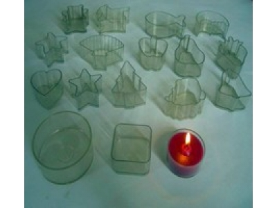 Plastic holder tealight candle