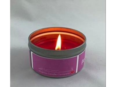 Tin box candle