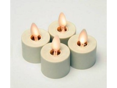 Moving wick Plastic tealight led candle