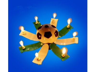 Football music birthday candle