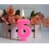Number shape birthday candle